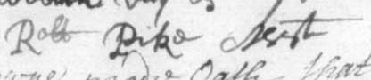Robert Pike's Signature